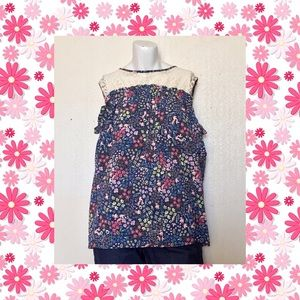 ⚡️NWOT Jolt Floral Cold Shoulder Blouse